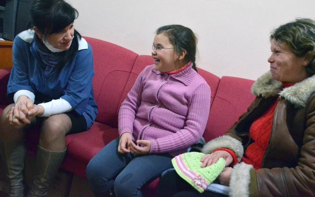 2013 12 Mihaela + mamma og Tatiana