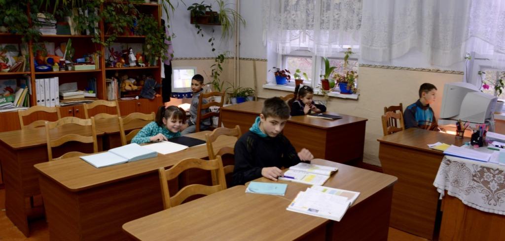 2015 11 26 Blindeskulen Klasserom med elevar